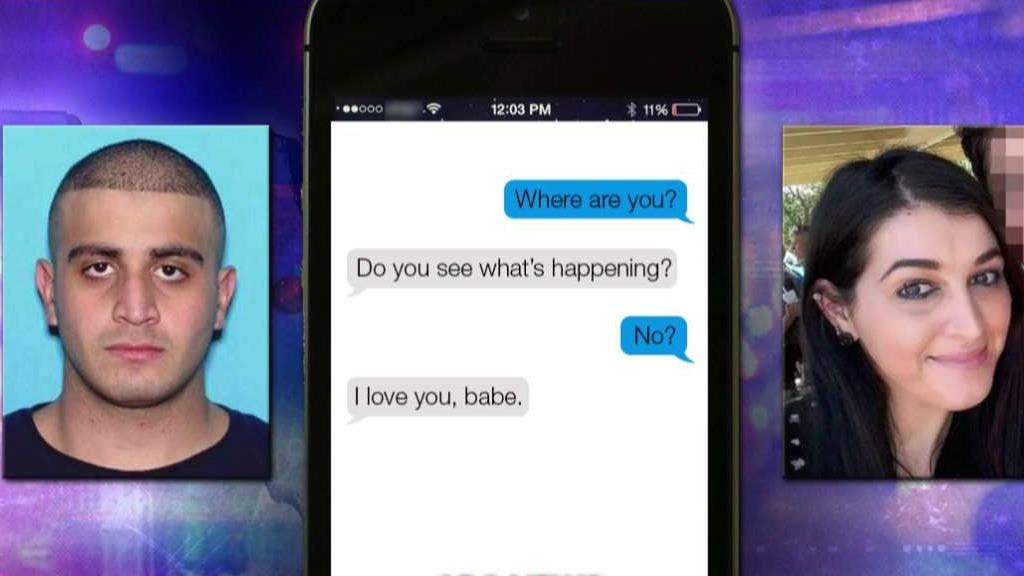 Orlando terrorist traded texts with wife during massacre