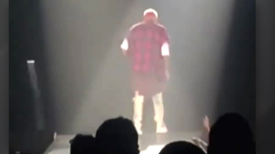 Raw video: Pop star goes down hard while performing in Saskatchewan, Canada