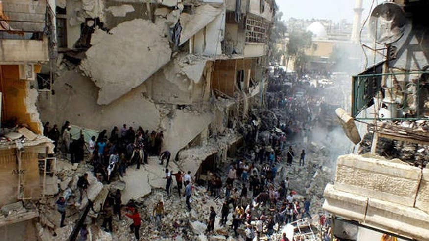Diplomats want the administration to send in airstrikes against Bashar al-Assad's regime; James Rosen has the story for 'Special Report'