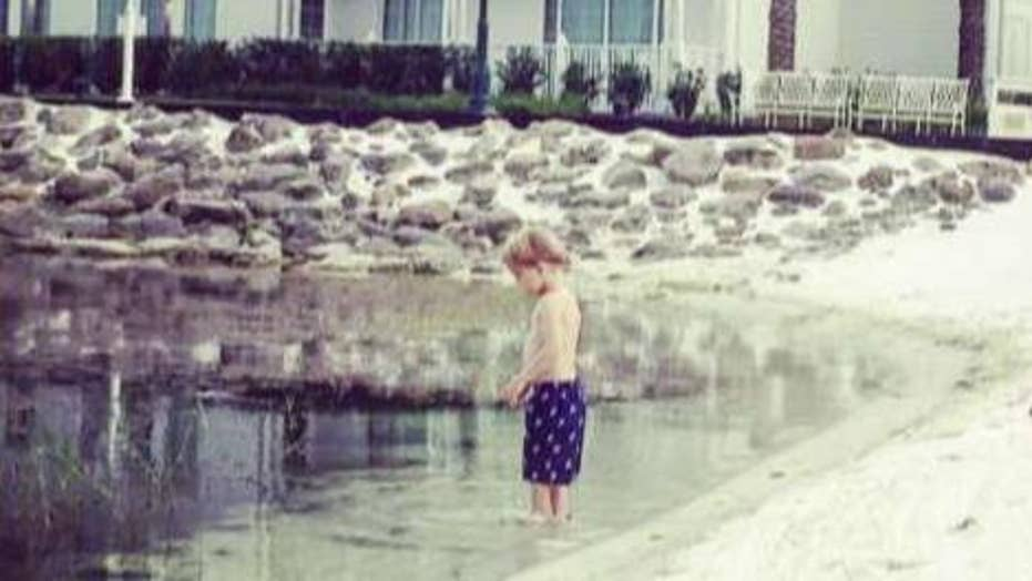 Mom posts photos of son standing where gator grabbed boy