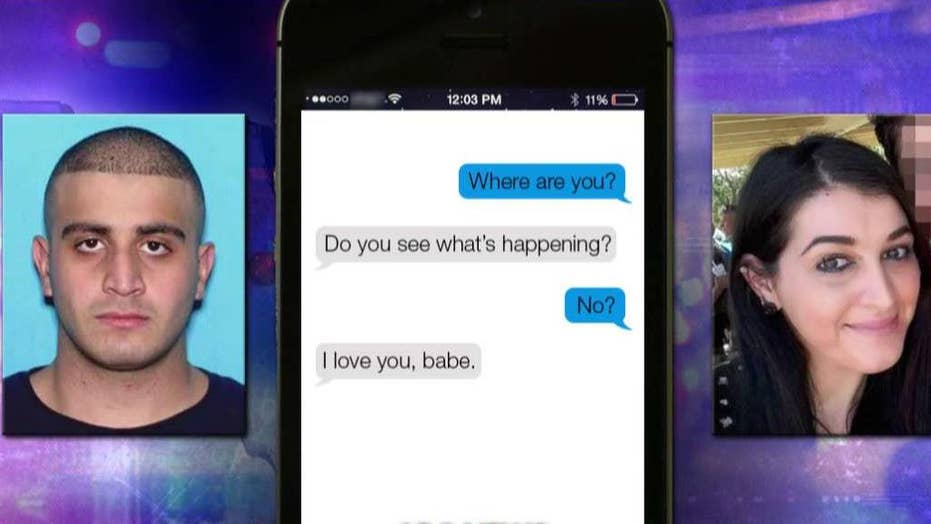 Orlando shooter, wife exchanged texts during massacre