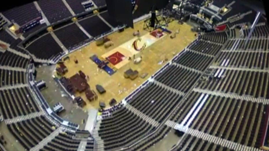 Watch the Quicken Loans Arena transform for GOP convention