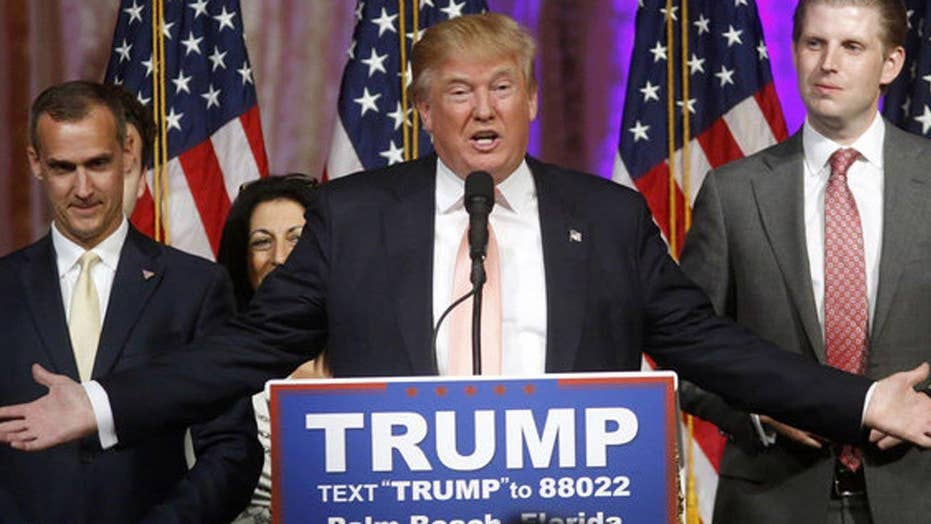 Donald Trump discusses dismissal of campaign manager