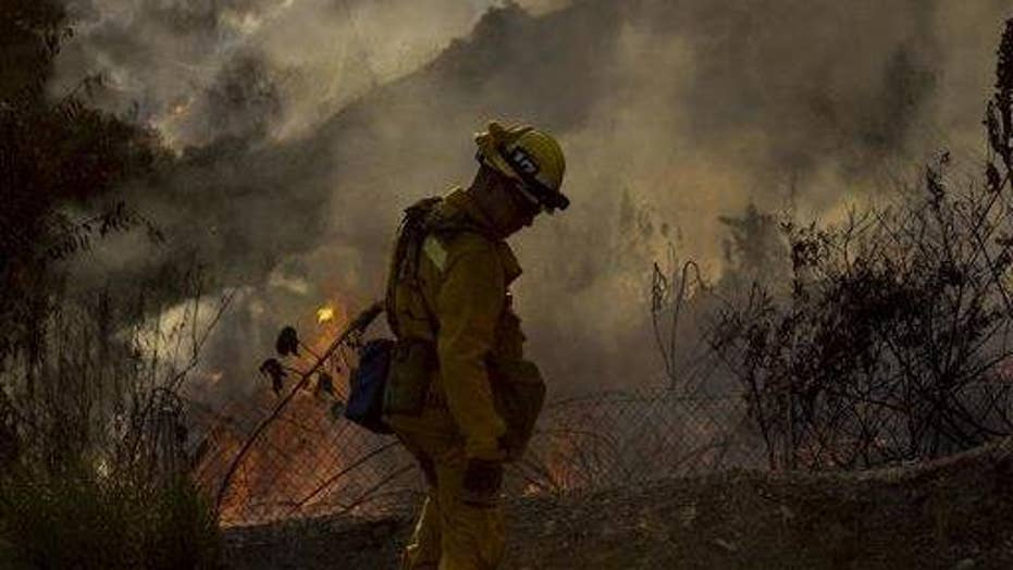 Two new wildfires spark in Southern California