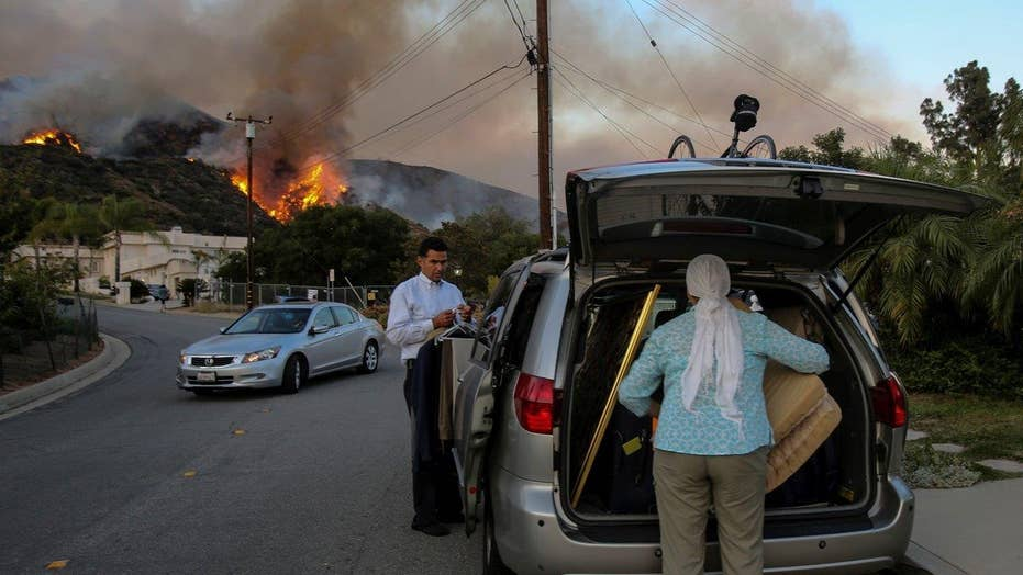 Wildfires force widespread evacuations across California