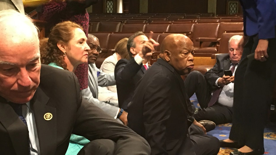 Democrats on Capitol Hill stage all-night sit-in over guns