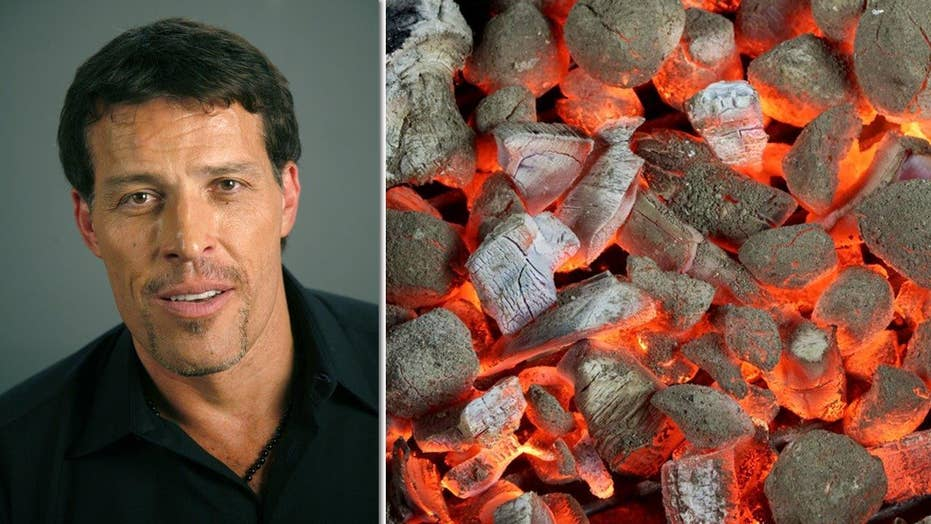 Tony Robbins' hot coals exercise leaves 30 people with burns