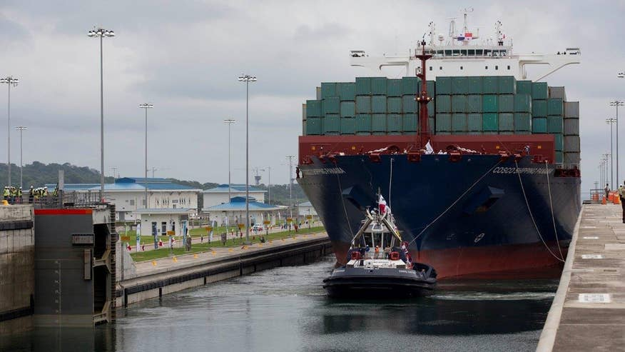 U.S. ports have been preparing for bigger cargo ships that can now navigate canal's locks; Phil Keating reports from Miami