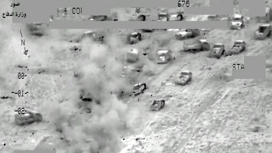 Raw video: Iraqi Ministry of Defense releases footage of attack on terrorists near Fallujah