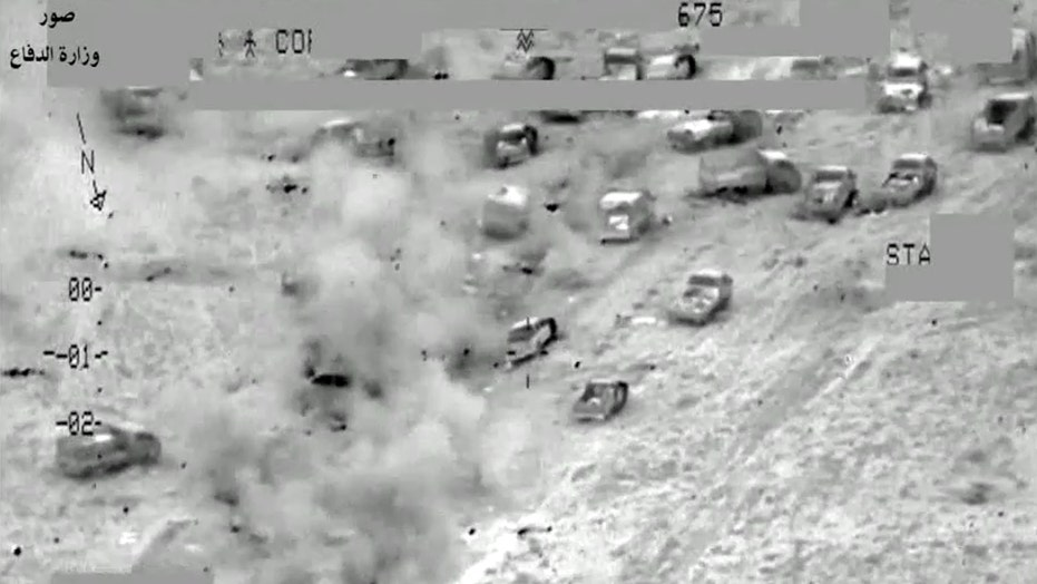 Major airstrike on ISIS convoy kills at least 250 militants
