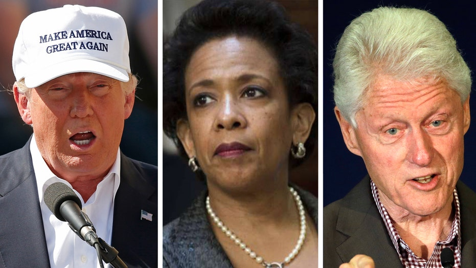 Trump slams 'sneak' meeting between Lynch and Bill Clinton