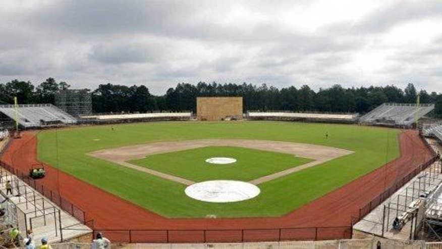 Major League-style ballpark constructed at military installation