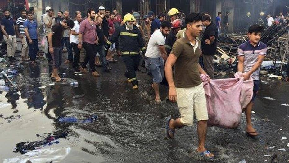 Twin bombings in Baghdad leave more than 100 dead