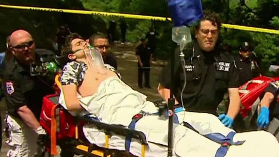 Blast sends tourists running in Central Park