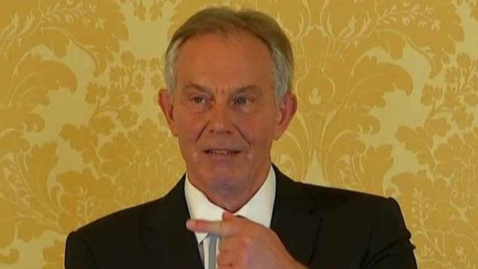 Former UK Prime Minister Tony Blair reacts to Iraq report
