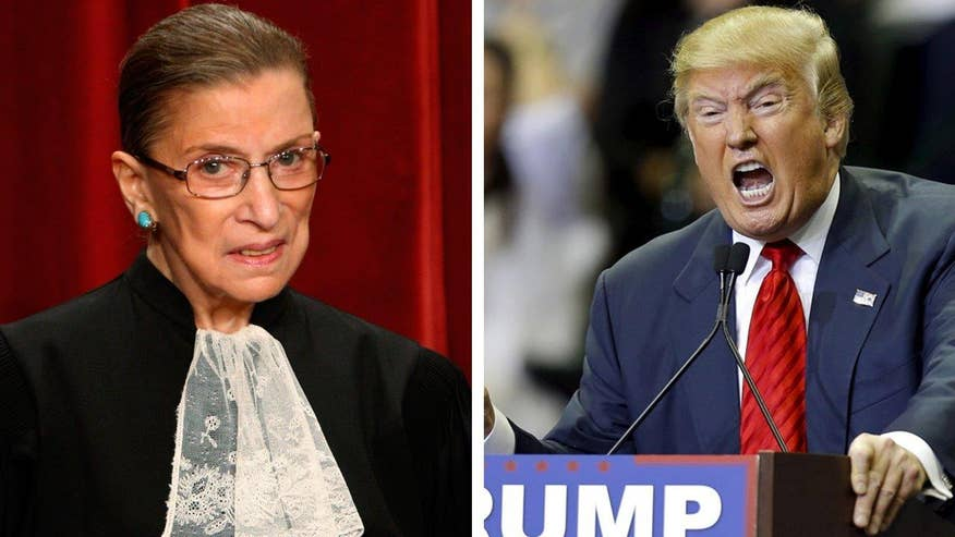 Bias Bash: Ellen Ratner on why the media should be holding Supreme Court Justice Ruth Bader Ginsburg to task for her recent comments on Donald Trump