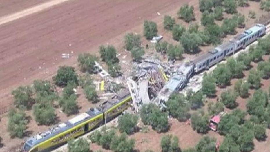 Deadly head-on train crash in southern Italy