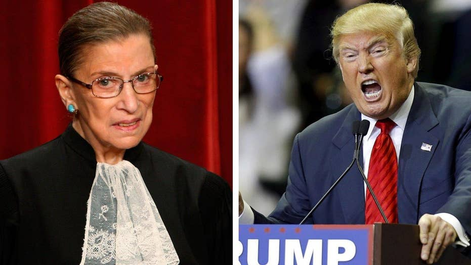 Should Ginsburg keep her thoughts on Trump to herself?