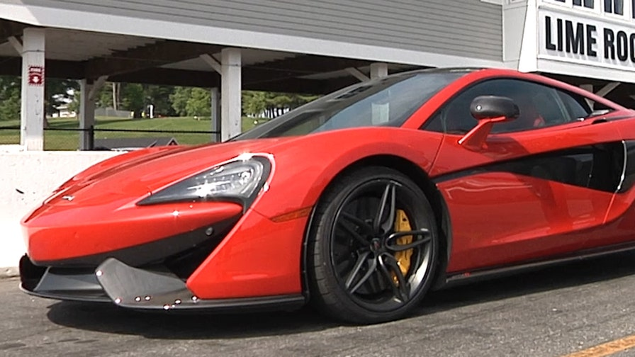 FoxNews.com Automotive Editor Gary Gastelu hits the road to the track at Lime Rock Park in the 2016 McLaren 570S.