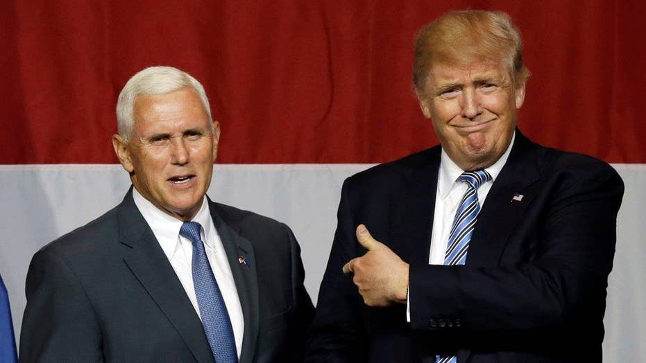 Indiana Gov. Mike Pence joins Trump on the campaign trail