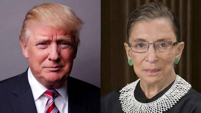 Justice Ginsburg apologizes for 'ill-advised' Trump comments