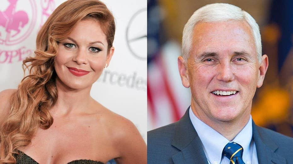 Conservative Candace Cameron Bure no Pence fan