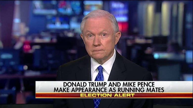 Sen. Sessions: 'Principled,' 'Experienced' Pence Is Great VP Pick for Trump