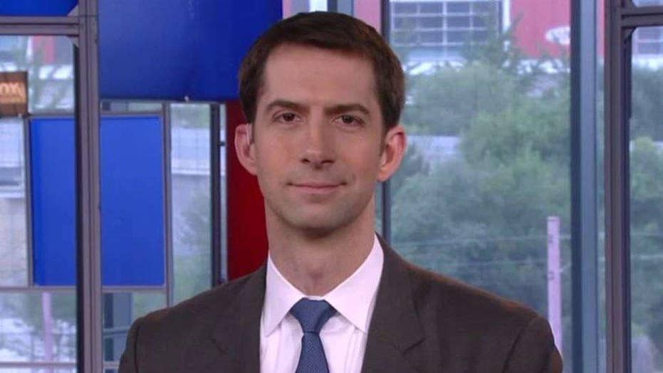 Sen. Tom Cotton reacts to attacks on police officers