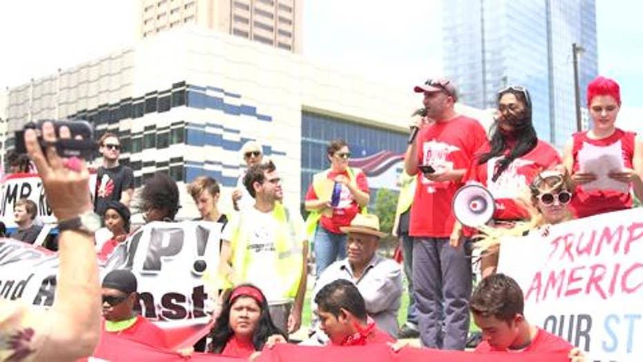 Anti-Trump protesters swarm RNC convention