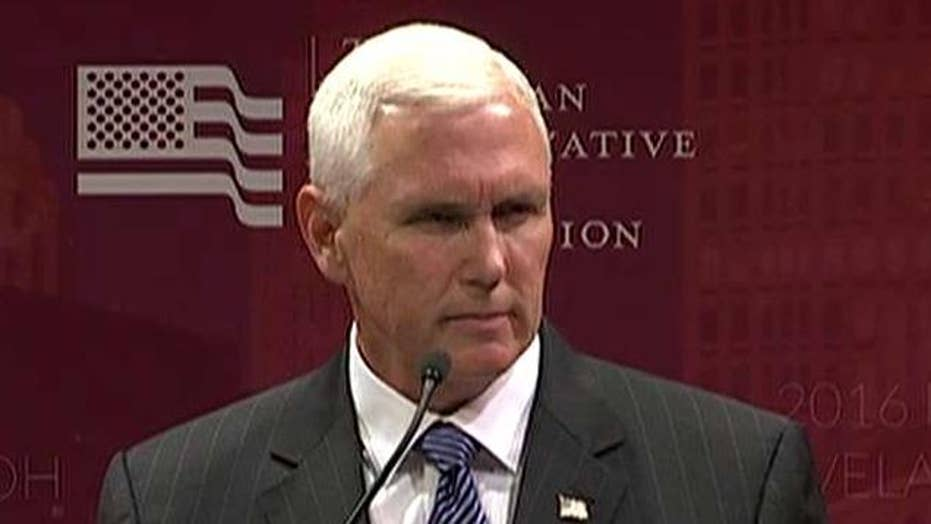 Pence: Time has come for GOP to come together