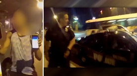 Raw video: Accident caught on Baltimore police officer's body camera