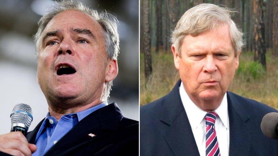 Kaine, Vilsack top Clinton's shortlist for VP