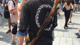 Open carry advocates make their voices heard outside the Republican National Convention