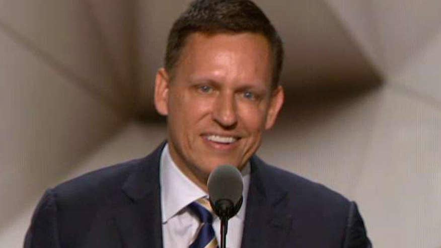 PayPal founder addresses the Republican National Convention