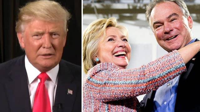 Donald Trump: Kaine 'not a good choice' for Clinton
