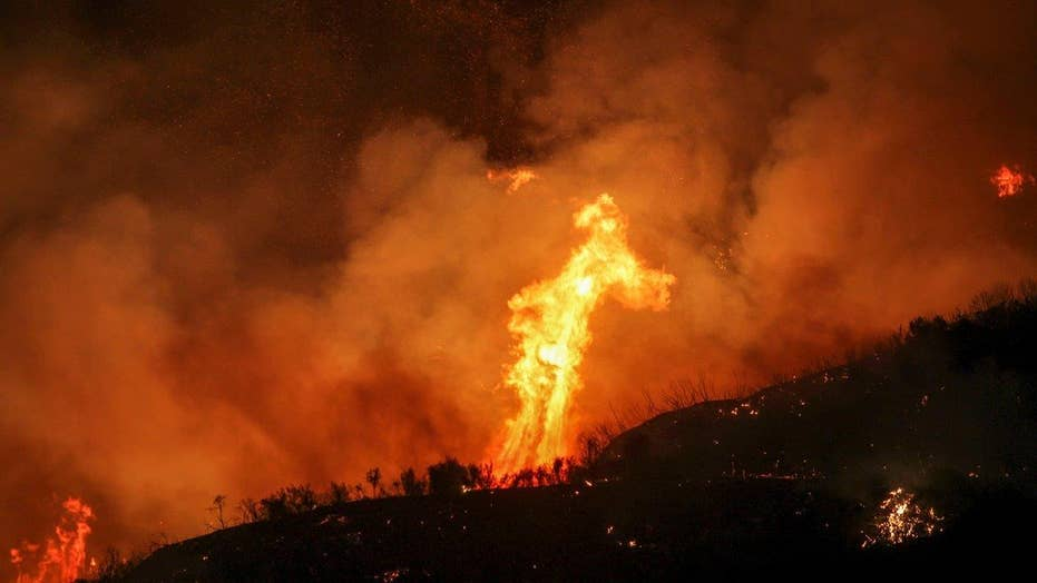 California wildfire triples in size, over 20,000 evacuated