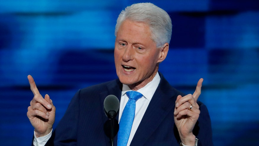 Former president of the United States makes case for his wife at the Democratic National Convention