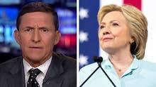 Flynn rebuffs DNC on security: Clinton's the 'biggest fraud'