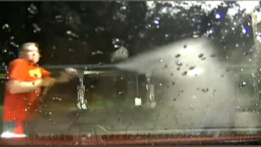 Louisiana man turns powerful jet on gunman