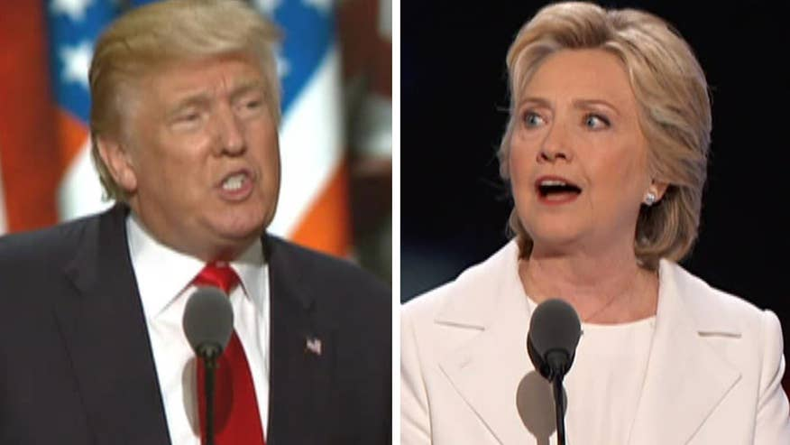 'On the Record' looks at how Hillary Clinton and Donald Trump addressed various different hot topics in their convention speeches