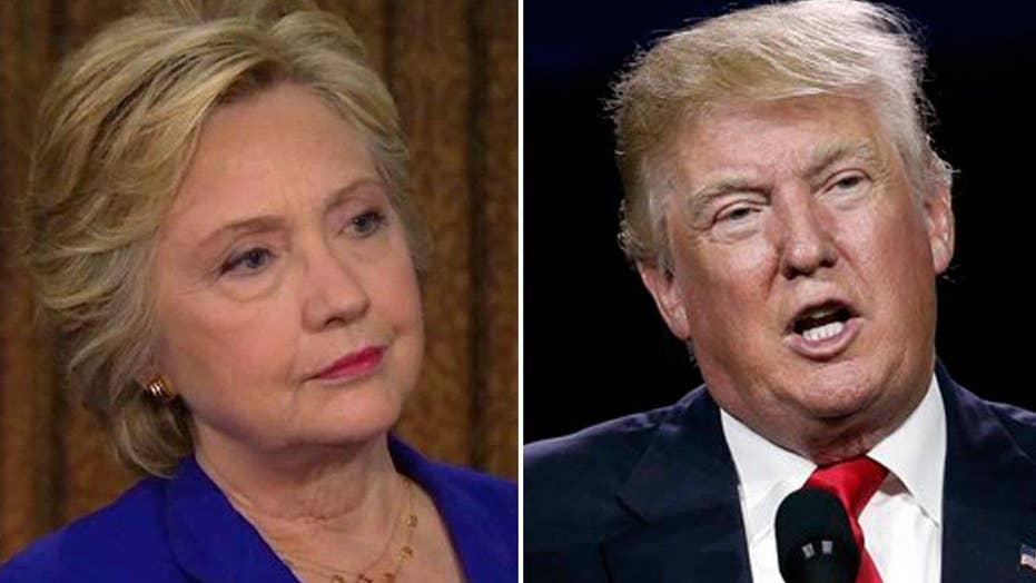 Hillary Clinton on tight race, accusations against Trump