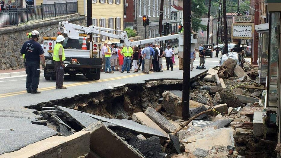 Devastating flash flood in Maryland leaves at least two dead