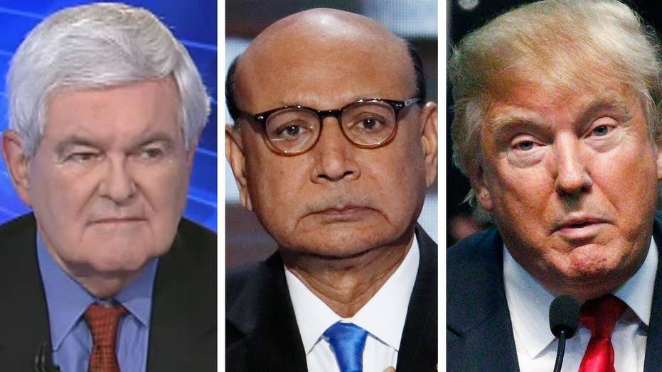 Gingrich: Trump should've avoided fight with Khan family