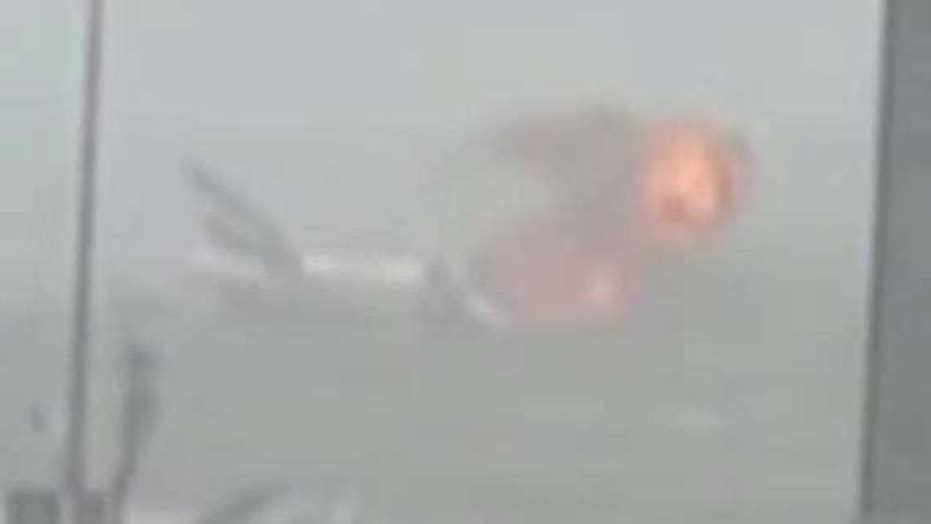 Plane catches fire mid-flight, crash lands at Dubai airport