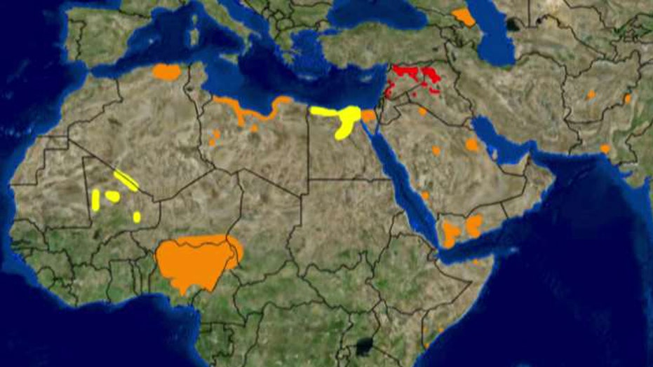 Terror map shows spread of ISIS across globe