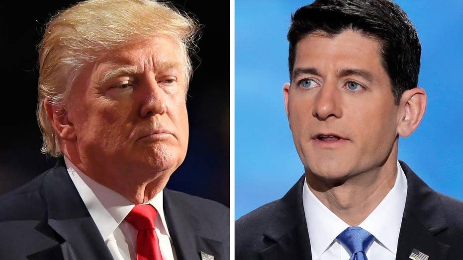 Trump signaling campaign shift with support of Paul Ryan?