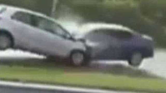 Highway horror: Head-on collision caught on camera