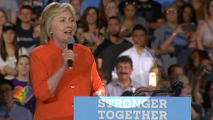 Raw video: Father of Omar Mateen attends Hillary Clinton rally in Kissimmee, Florida