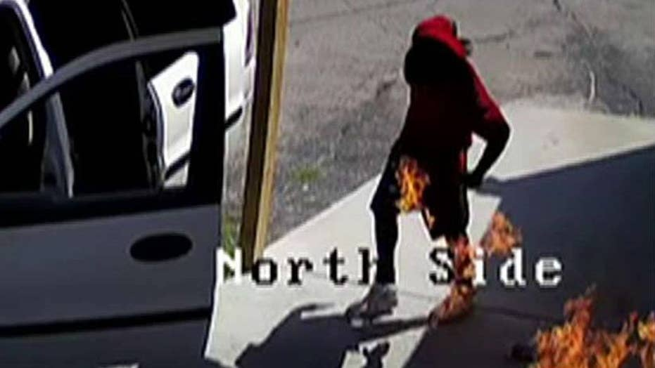 Would-be arsonist accidentally sets himself on fire