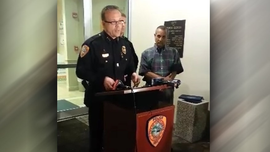 Raw video: Police chief briefs the media on 'horrible accident' where 73-year-old Mary Knowlton was killed during 'shoot/don't shoot' role-playing demonstration